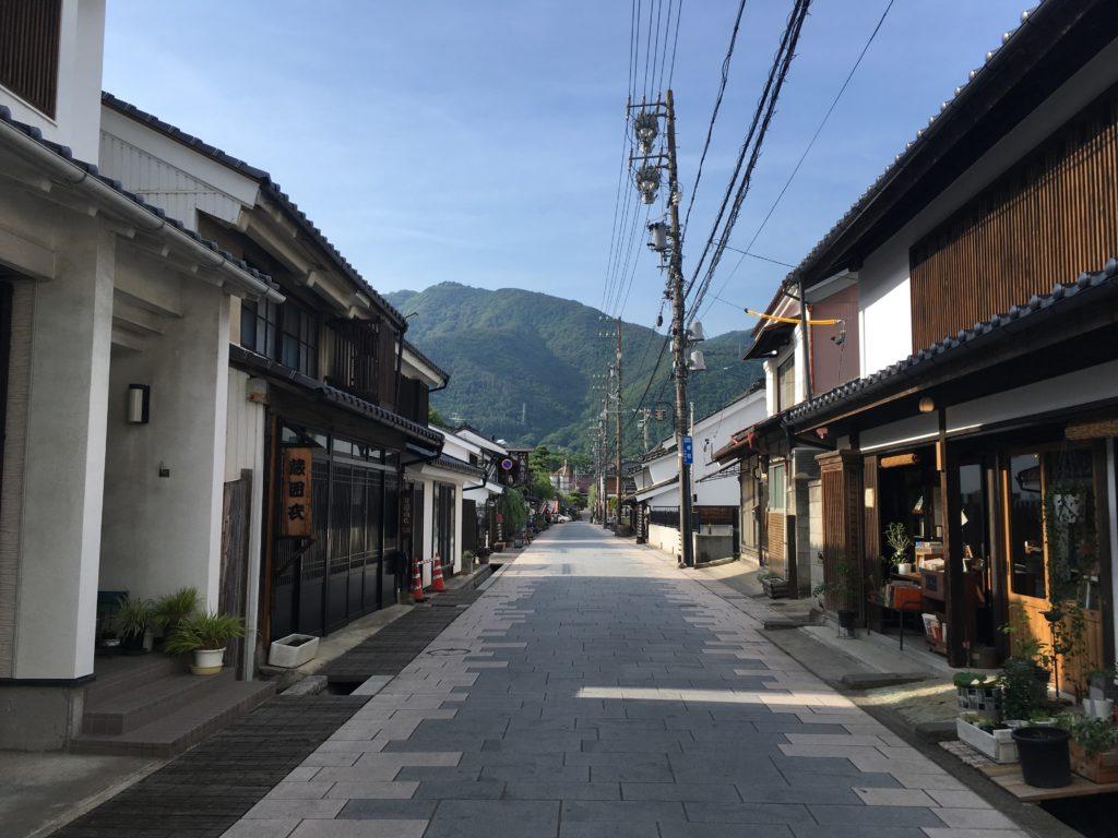 上田市の柳町通り