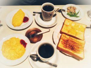 松本の喫茶店アベのモーニング