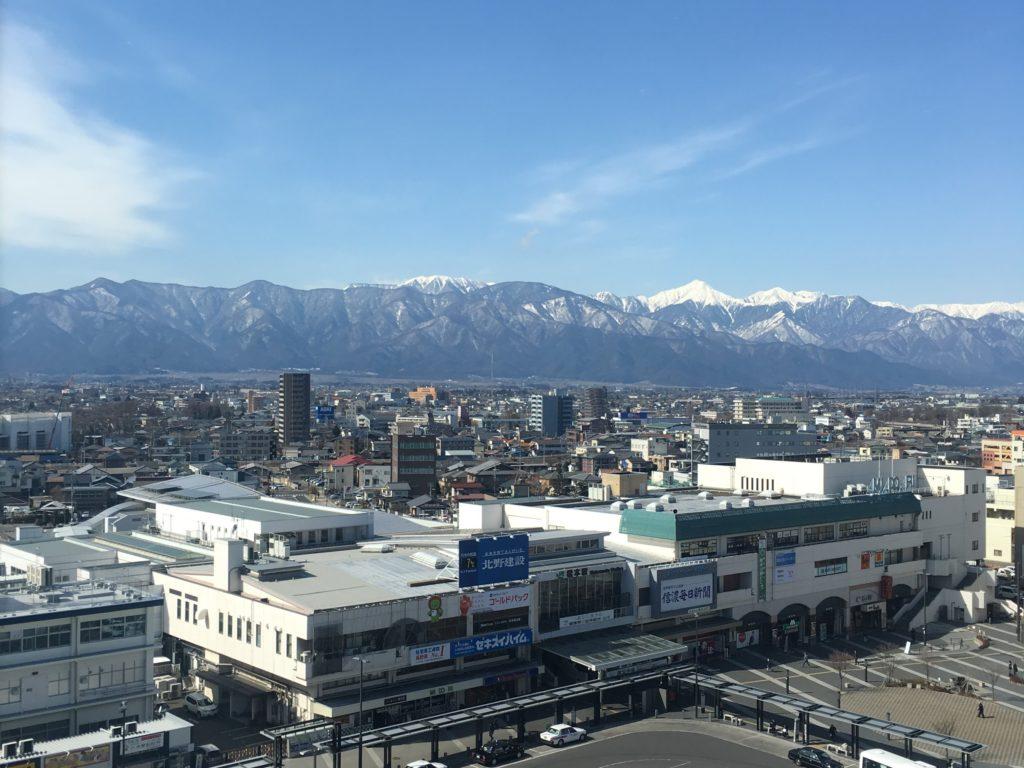 松本の冬の風景