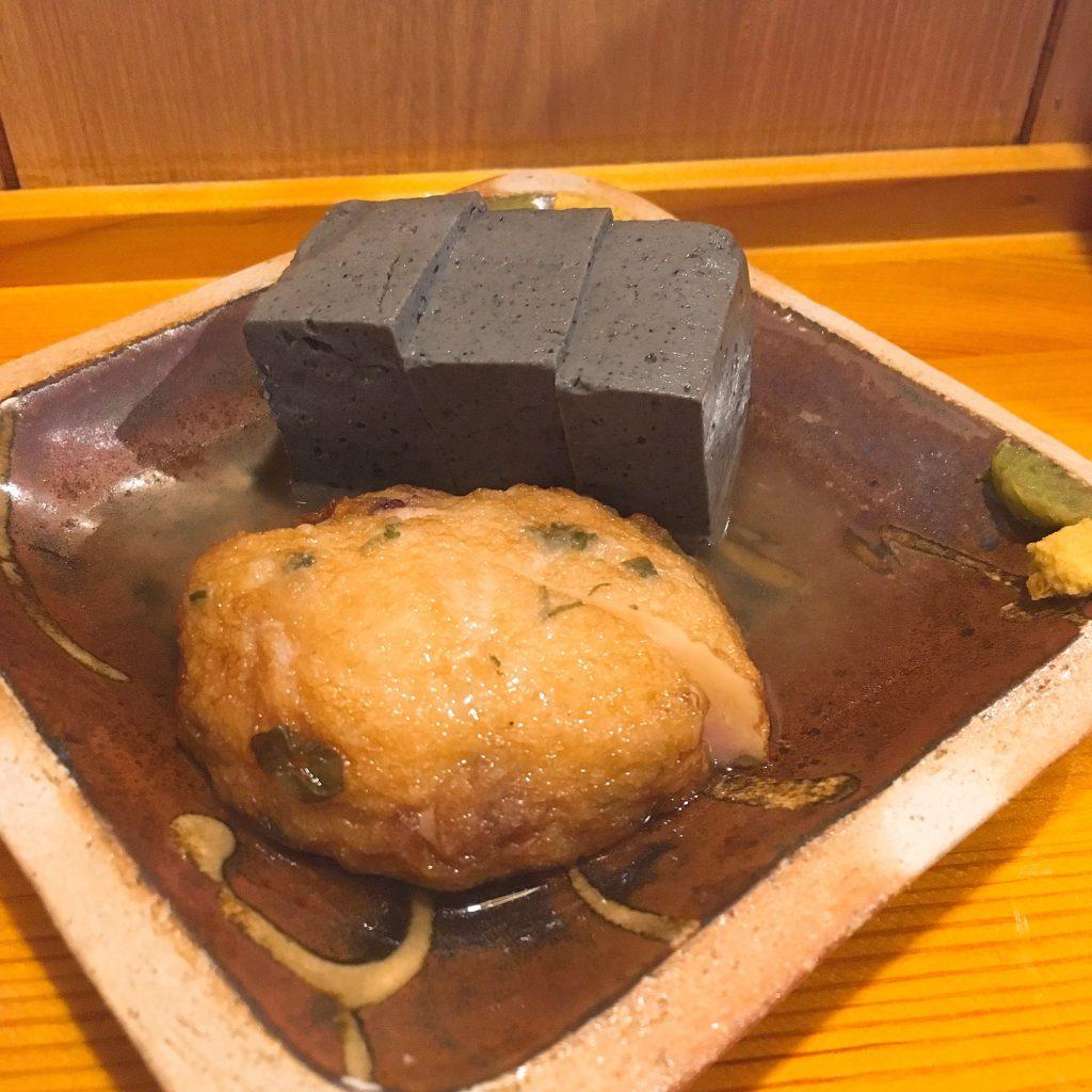 ごま豆腐とタコ天のおでん