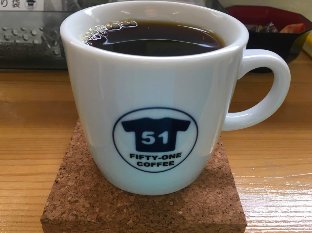 FIFTY-ONE COFFEEのコーヒー