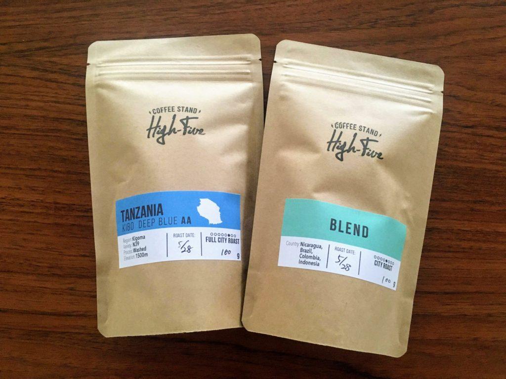 High-Fiveのコーヒー豆