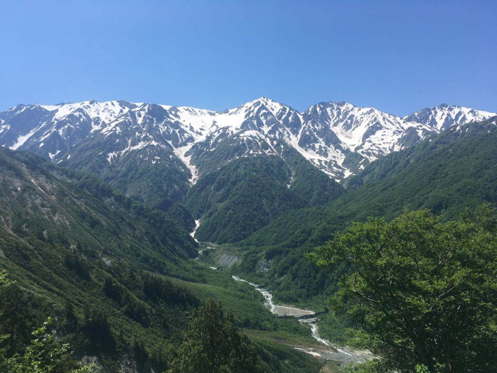 雪解け水と山と川