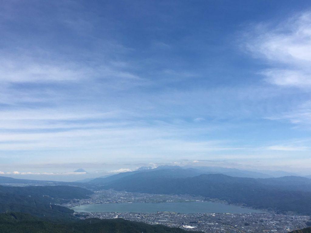 高ボッチ山頂からの景色