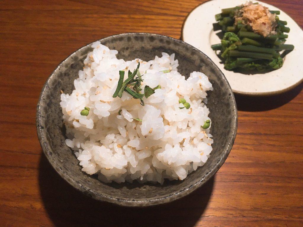 山椒の混ぜご飯