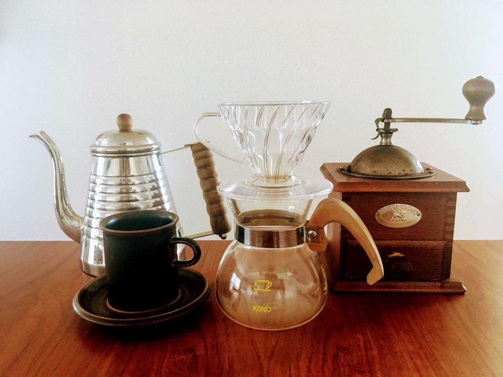 ドリップコーヒーの道具