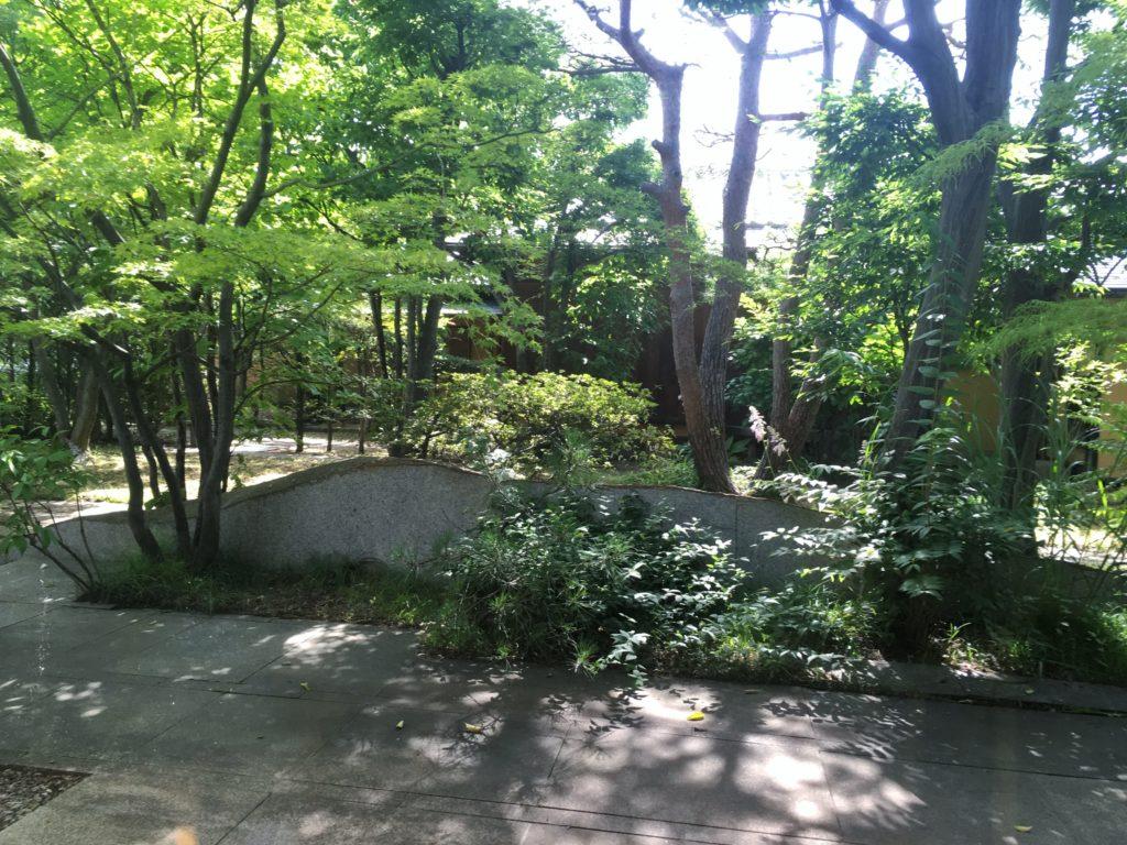 開運堂松風庵の中庭