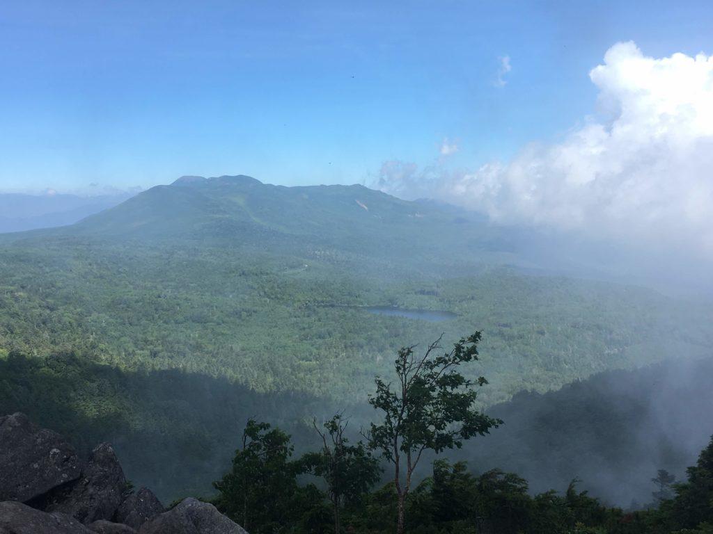にゅう山頂からの眺め