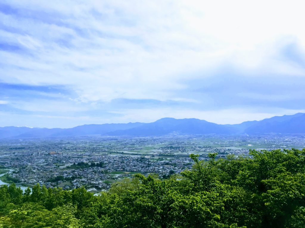 アルプス公園から見た松本平