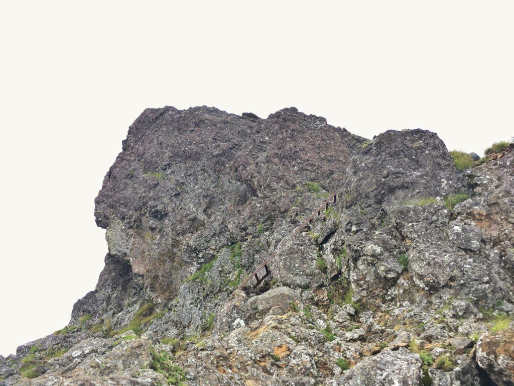 赤岳の岩場