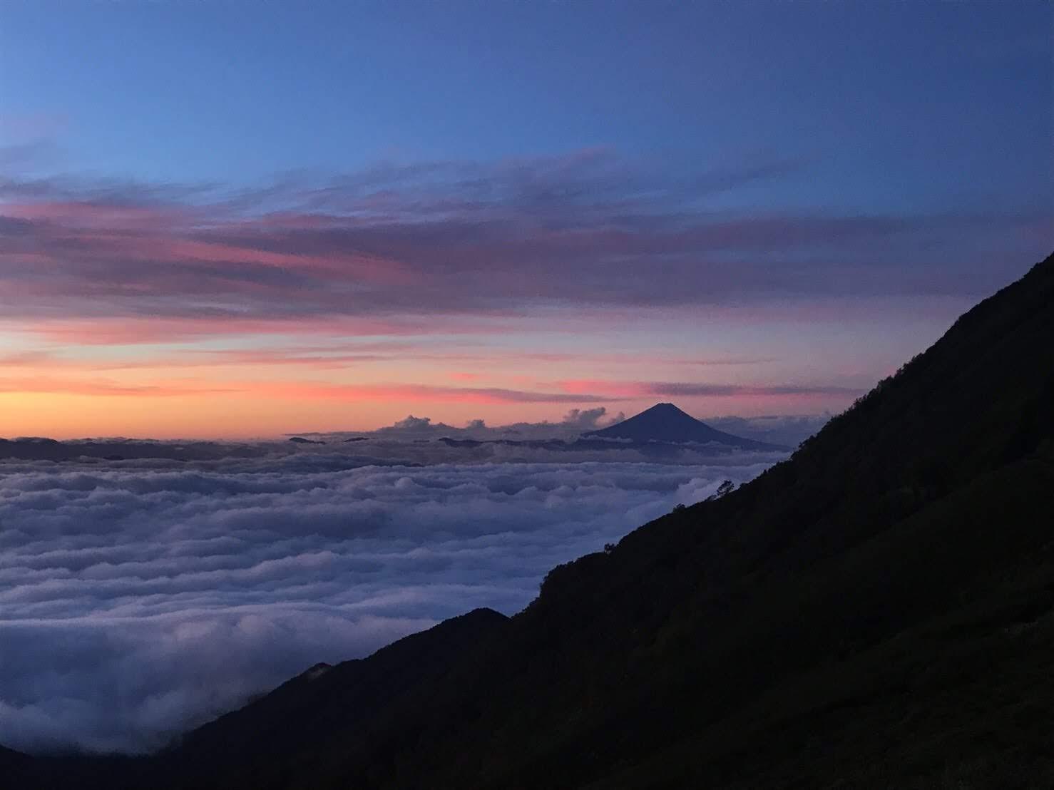 赤岳展望荘からの富士山
