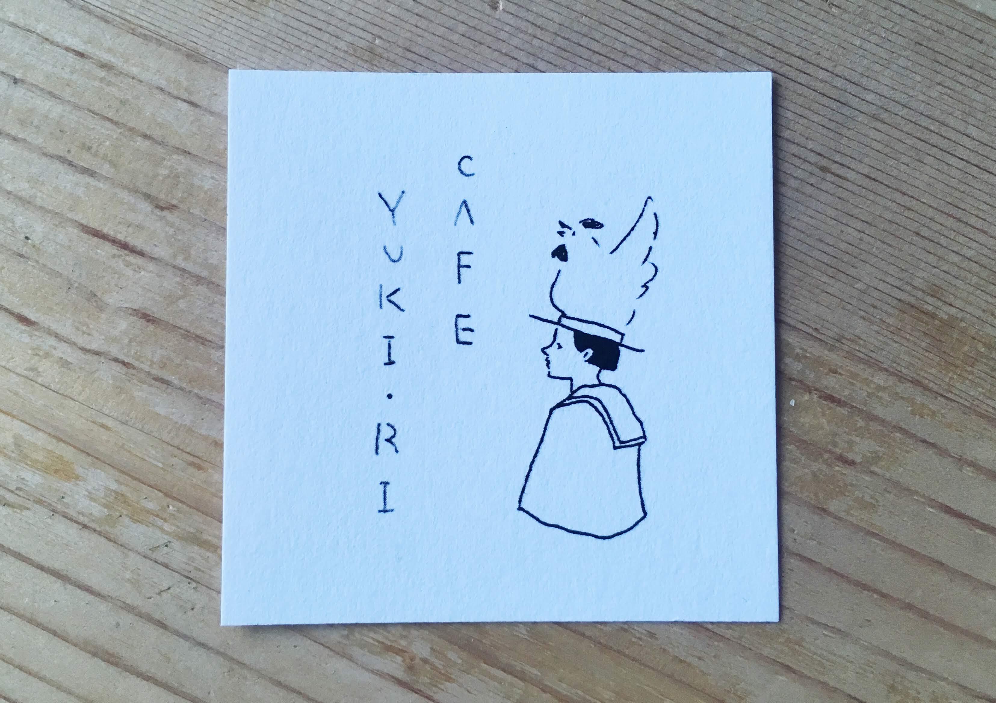 松本のカフェ YUKI・RIのショップカード