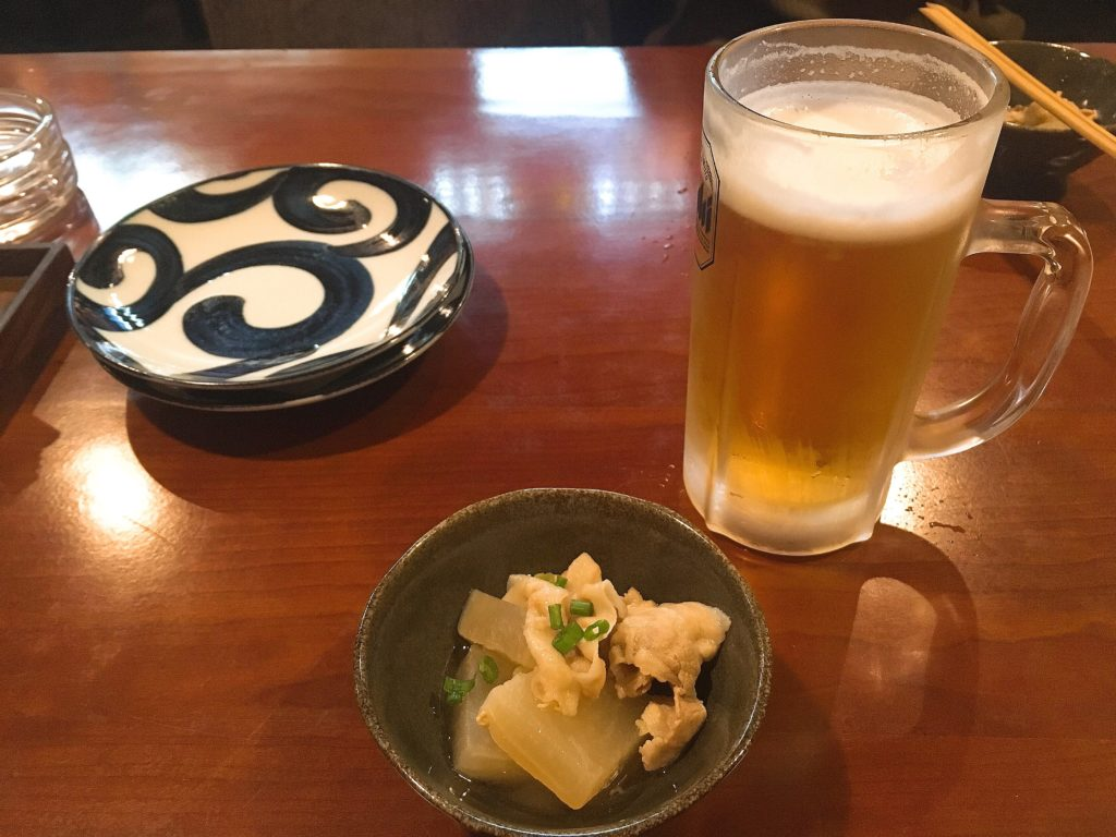 松本まえじビールとお通し