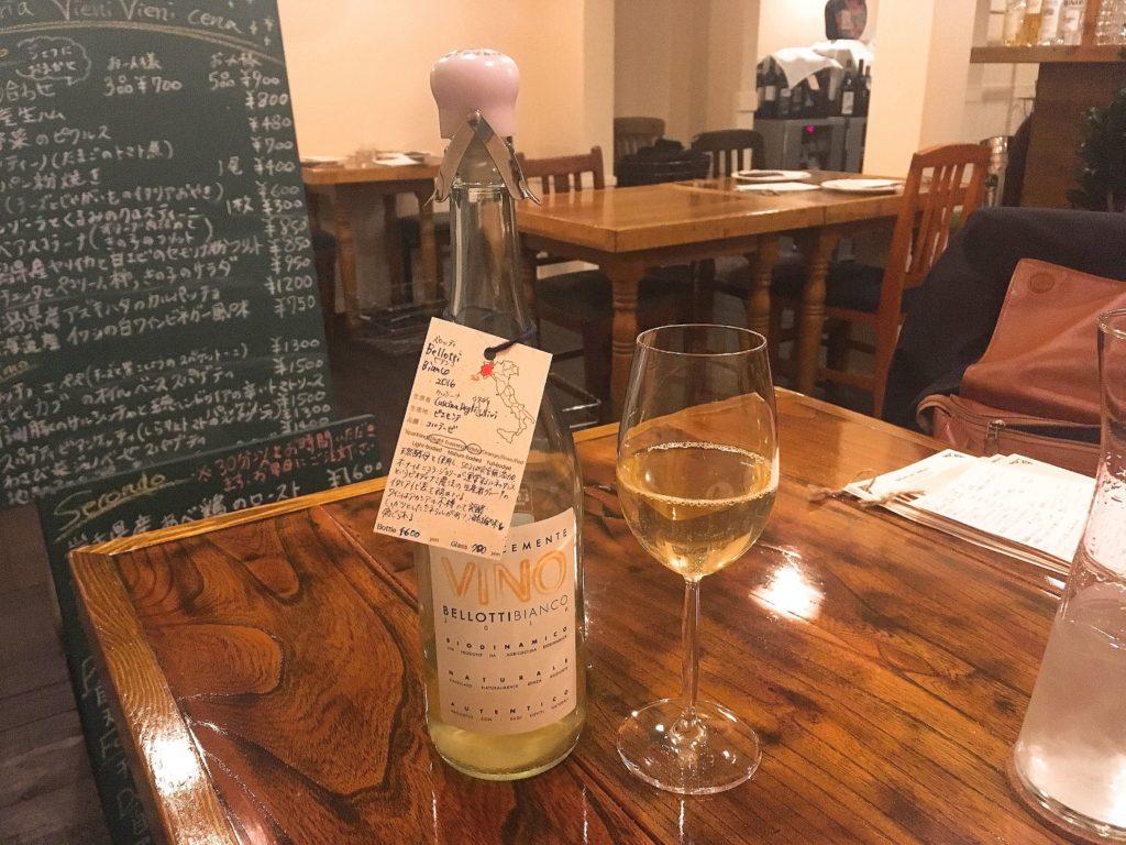 ビエーニビエーニの白ワイン