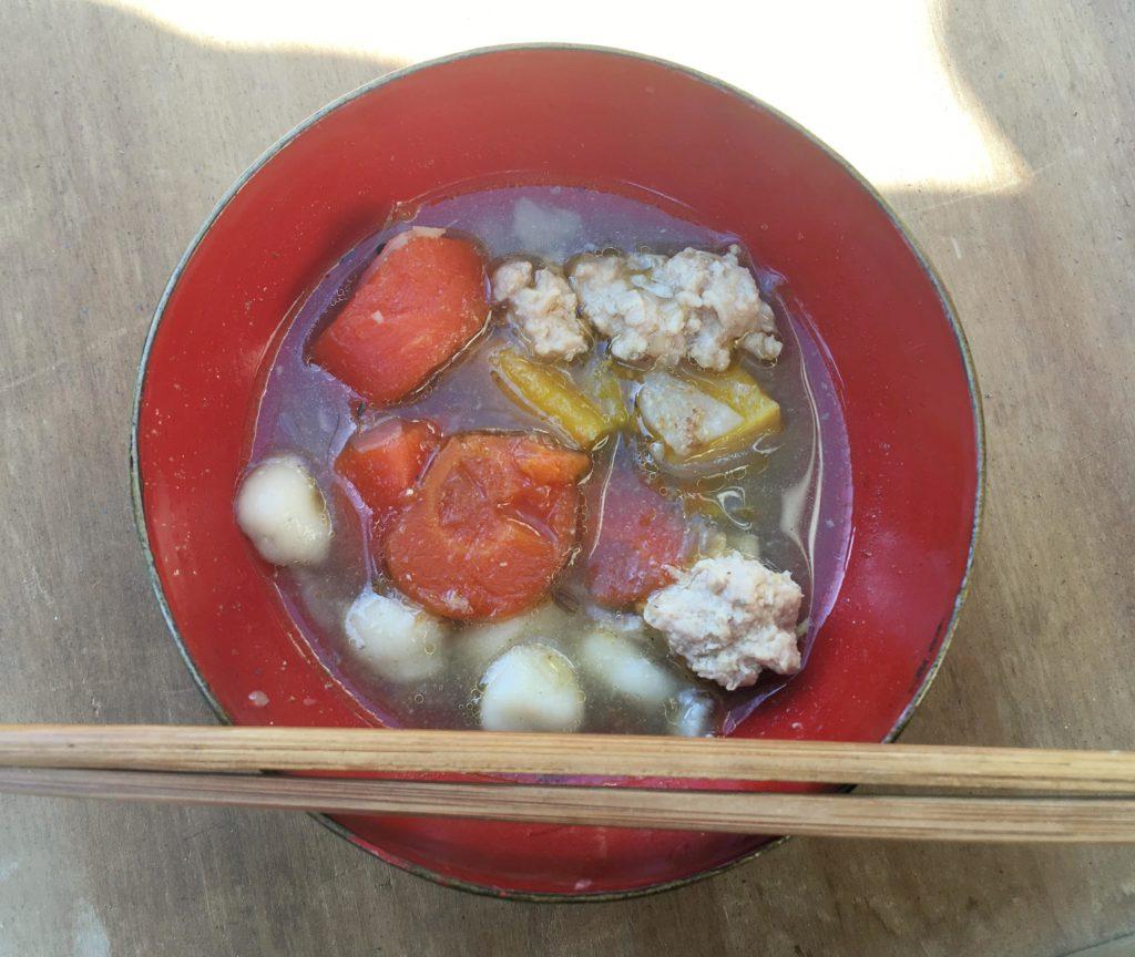 山山食堂のスープ